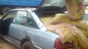 Impounded products in the boot of a car