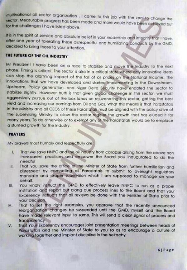 Kachikwu's Letter to PMB-6