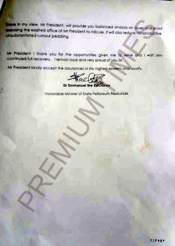 Kachikwu's Letter to PMB-7