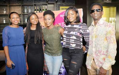 Michelle Omoregha, Tomi Owo, Aramide, Chiny and Collins Akpapunam (Sunday Adigun)