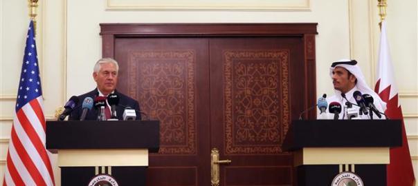 Rex Tillerson and Qatari Foreign Minister