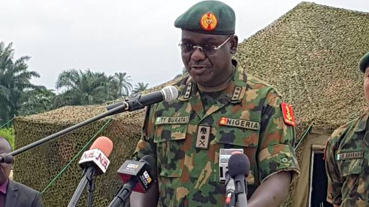 Tukur Buratai - Women Soldiers conduct free medical, other humanitarian services in Kano