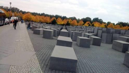 Makeshift graves constructed for the slain European Jews