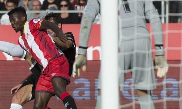 Kayode Olanrewaju in action as Girona stun Real Madrid