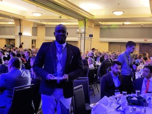 Pius Adesanmi with guests and CBIE officials at the award ceremony