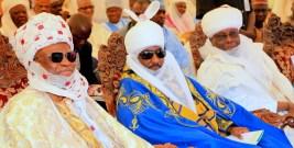 Lamido Adamawa, Dr Barkindo Mustapha; Emir of Kano, Alh. Muhammadu Sanusi II and former Vice President and Waziri Adamawa, Atiku Abubakar, at the formal commissioning of Pulaaku Radio Station in Yola, Adamawa State, at the weekend.