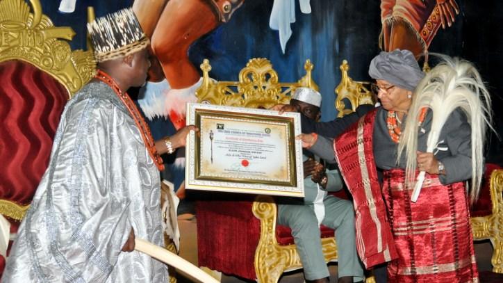 Ellen Johnson Sirleaf visits Imo