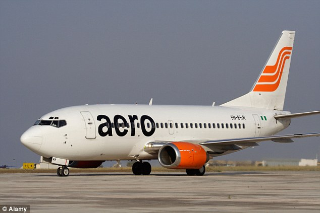 Aero Contractors Company of Nigeria Limited used to illustrate the story. [Photo credit: Daily Mail]