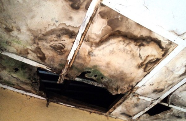 Leaking ceiling at Amabokwu health centre at Igbo Etiti Local Government, Enugu State