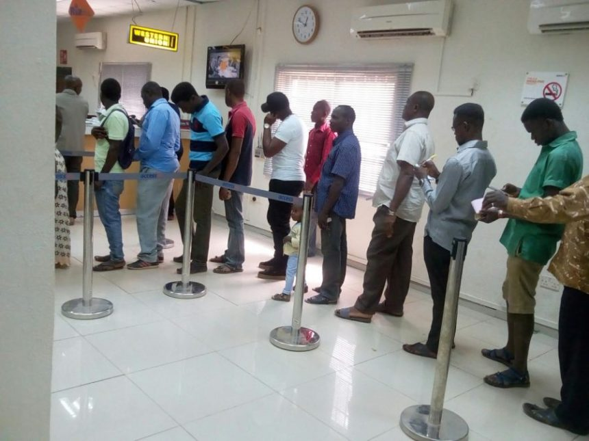 Image result for nigerians on a queue at bank