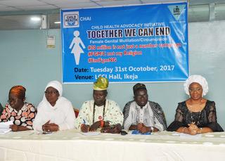 From Left- Pastor(Mrs)Laide Adenuga, Dr(Mrs) A.S Ashiru, Imam S.A Gafar, Mrs. Lola Alonge-CHAI ED.
