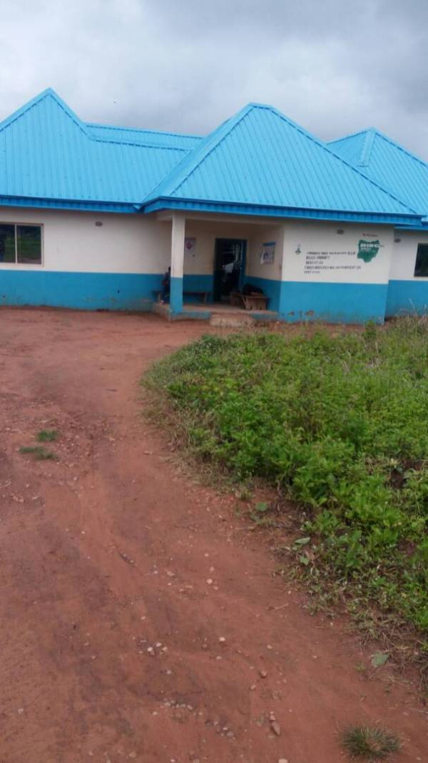 Health centre in Adawa Mbaise Ullam in Gwer East Local government, Benue state funded by Millennium Development Goals Project.