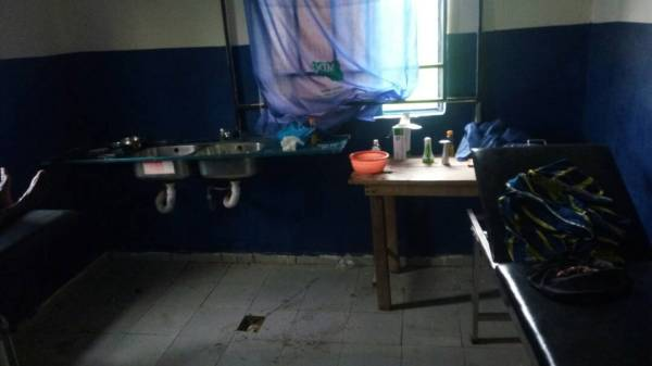 Poorly equipped labour room in Edikwu Icho health centre.