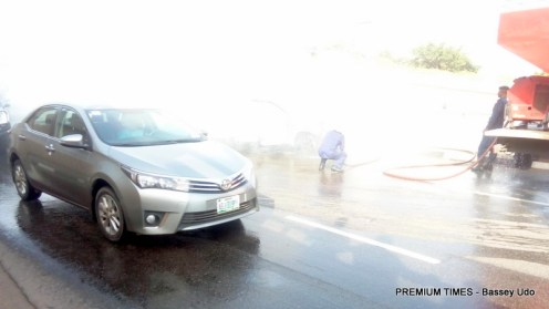 New Prado SUV burns down in Abuja