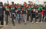 IPOB members demonstrate in Onitsha. [Photo credit: NAN]