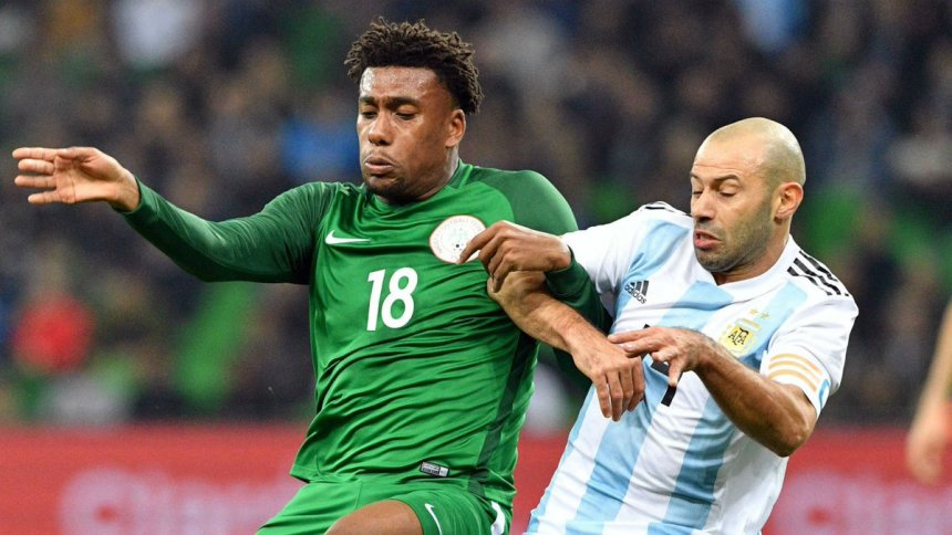 Image result for Watch how the Super Eagles flogged the Argentines 4-2