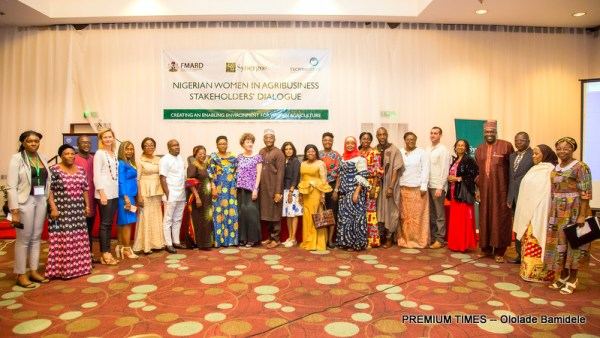 Participants at launch of SPA Compendium and Nig Women in Agric. Dialogue