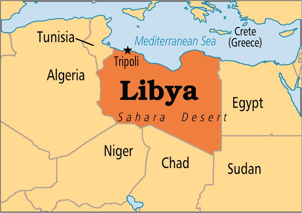 Image result for libya map