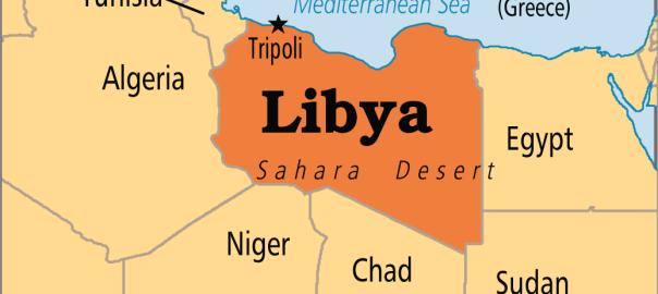 Libya on map