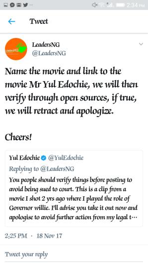 Yul Edochie tweets