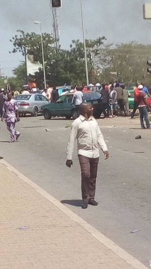 Taxi drivers protest in Wuse