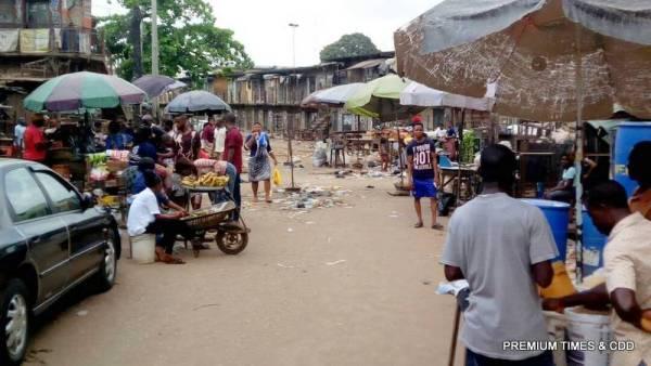Emejulue /Ajasa market Onitsha. people buying and selling