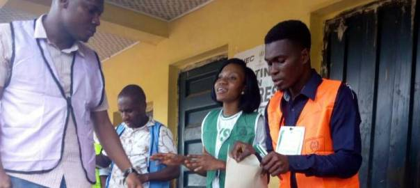 Voting at st peters ogidi ward 1