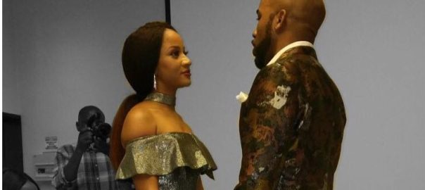 Nigerian musician, Banky W and Nollywood actress Adesua Etomi's court wedding
