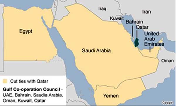 Gulf Cooperation Council on map. [Photo credit: Indian Defence Review]