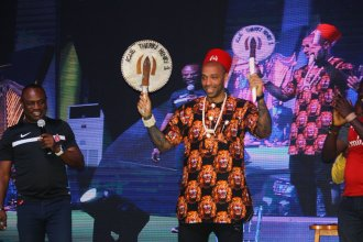 Arsenal legend, Thierry Henry in Igbo attire.
