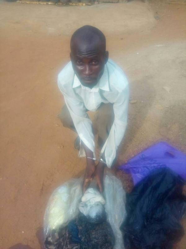 Ajiboye Emmanuel, arrested with baby body parts.