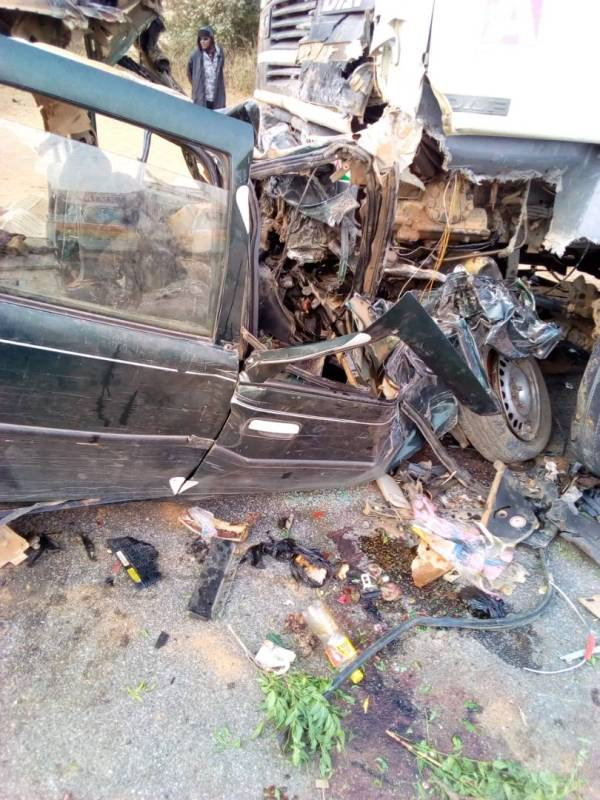 Accident scene at a village in Gagarawa Local Government Area of Jigawa State