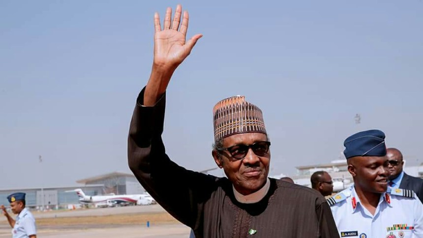 President Muhammadu Buhari on his arrival from Jordan after attending the counter Terrorism