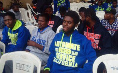 Libya: A group of returnees taken to Edo custody. [Photo credit: NAN]