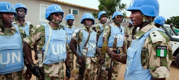 Nigerian peacekeepers