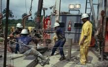 A picture showing oil exploration in Nigeria. [Photo credit: Information Nigeria]