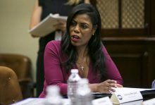 Omarosa Newman, a former reality television star-turned political aide to U.S. President Donald Trump. [Photo credit: The Globe and Mail]