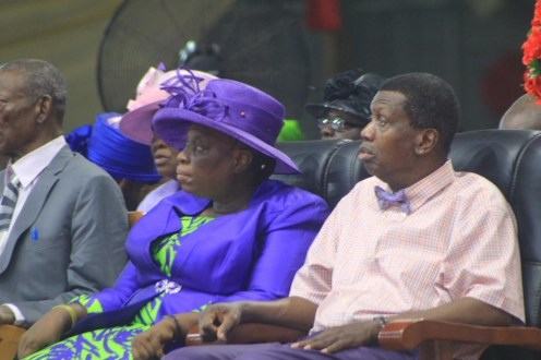 Pastor EA Adeboye and his wife. [Photo credit: Komolafe Segun (MD/CEO), SKenhanced Images]
