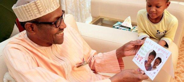 President Muhammadu Buhari and his grand daughter