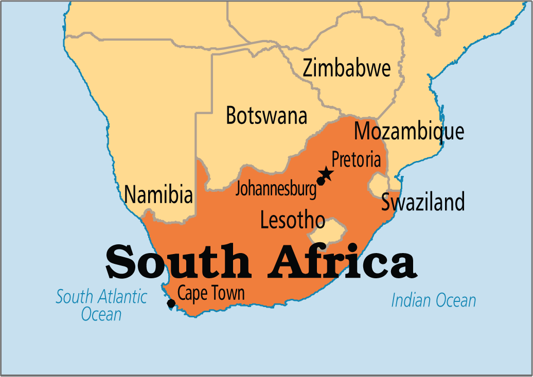 South Africa On Map South Africa's unemployment rate rises to 27.6%