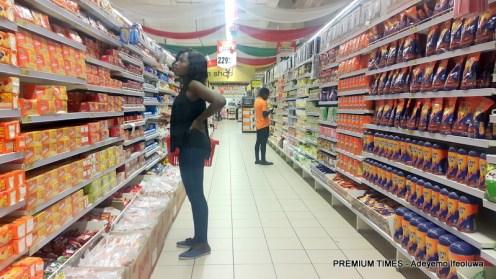 Shoprite food item section.