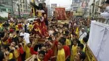 File photo of Devotees march around black Jesus Christ statue in Philippines [Photo Credit: CBC.ca]