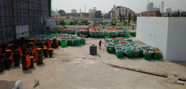 File photo of Lagos showcasing 'modern' initiative to take waste off streets