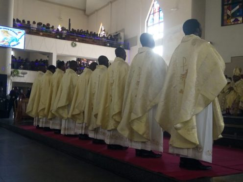 Newly-ordained priests
