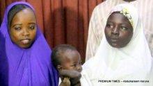 Newly-freed Chibok schoolgirl, Salomi Pogu and the 14 year old girl, Jamila Adamu