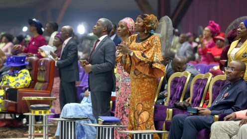 Vice President, Yemi Osinbajo and wife at the RCCG Holy Ghost Congress
