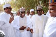 President Muhammadu Buhari with Governors of Kogi, Niger and Borno