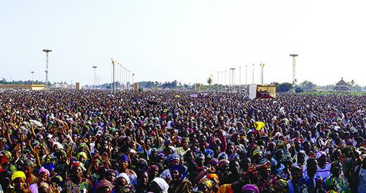 Multitude of people.
