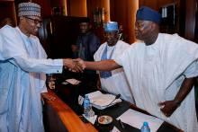 File Photo of President Muhammadu Buhari and Lagos State Governor, Akinwunmi Ambode