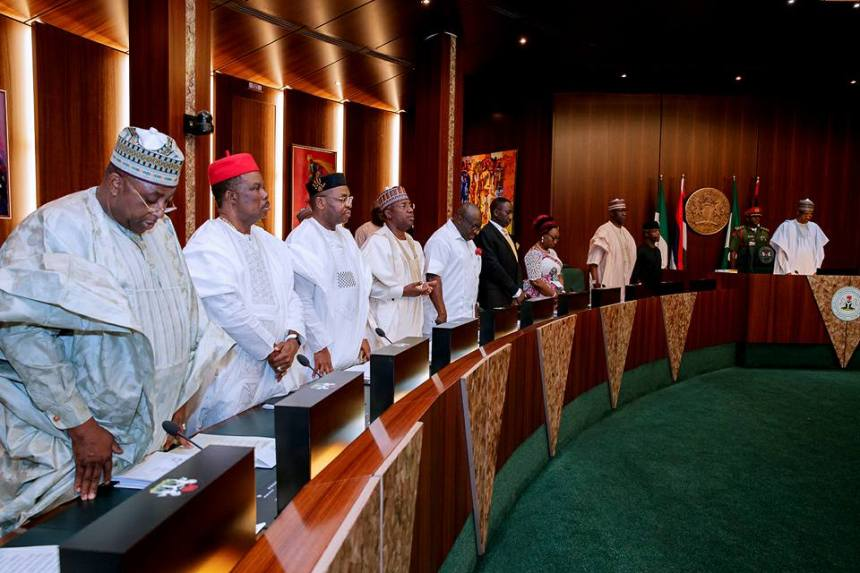 Cross section of Nigerian governors at the council of state meeting [Photo credit: Femi Adesina's Facebook page]